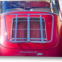 1963 Red Porsche 356b Super 90 Back End Metal Print By James Bo Insogna