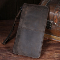 100% handmade retro genuine leather wallet card hold purse 05