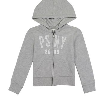 Girls aéropostale 7-14 french terry zip hoodie with glitter patch logo