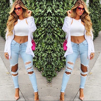 Fashion Women Summer Pencil Jeans Pants = 5617143745