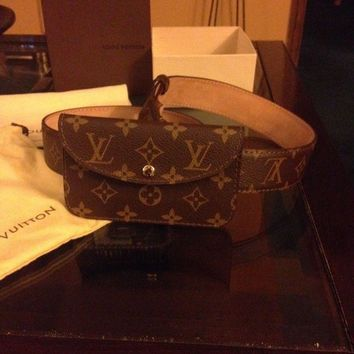 LMFMS6 Louis Vuitton monogram Pochette belt