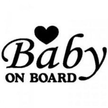 Baby on Board Letter Automobile Car Window Decal Tablet PC Sticker Automobile Window Wall Laptop Notebook Etc. Any Smooth Surface