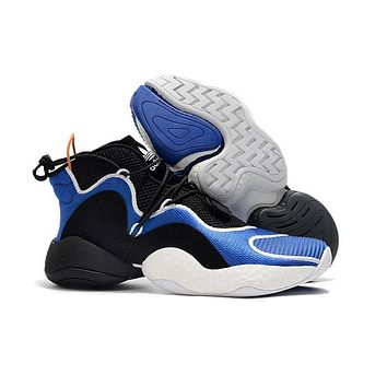 Adidas Crazy BYW Boost Black White Blue Basketball Shoes