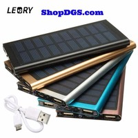 LEORY Ultrathin Solar Panel Charger Mobile Phone Power Bank