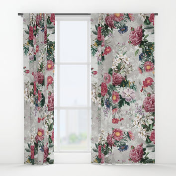 Beautiful Flowers Window Curtains by RIZA PEKER