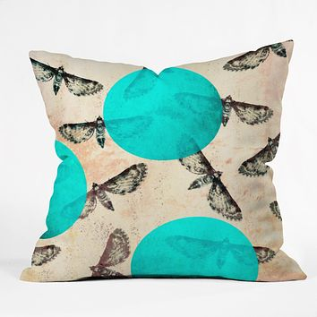 Elisabeth Fredriksson Moths Throw Pillow