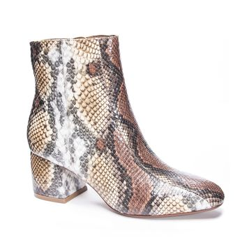 Chinese Laundry - Davinna Snakeskin Ankle Bootie
