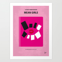 No458 My Mean Girls minimal movie poster Art Print by Chungkong
