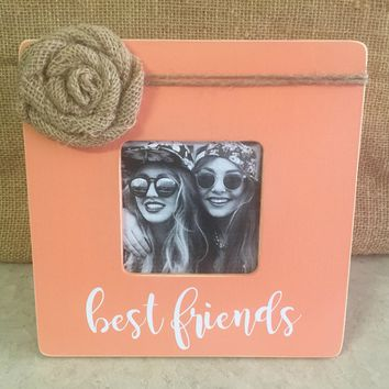 Best Friends Picture Frame/ Best Friends Gift / Rustic Picture Frame / Personalized Picture Frame