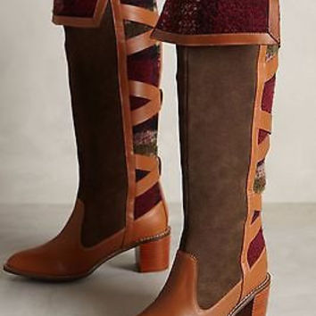 NWOB Anthropologie Schuler & Sons Wheat Ridge Boots, Retailed for $298