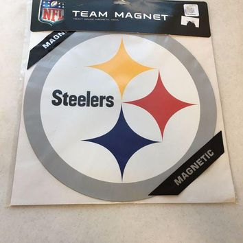 ONETOW BRAND NEW PITTSBURGH STEELERS LARGE CAR MAGNET SHIPPING