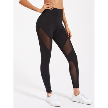 Play The Game Mesh Leggings - Black