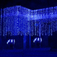 600 LED Curtain Fairy String Lights Christmas Xmas Wedding party Decor Lamp 6x3M