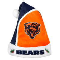 Chicago Bears Official NFL Holiday Santa Hat