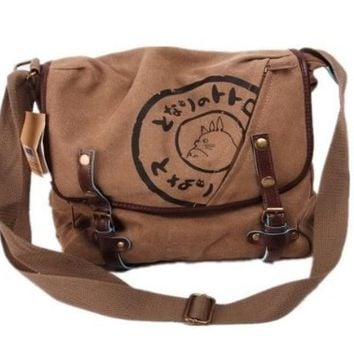STUDIO GHIBLI My Neighbor Totoro Canvas Messenger Bag Aslant Bag - Brown