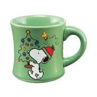 Vandor 85501 Peanuts Holiday 12 oz Ceramic Mug, Multicolor