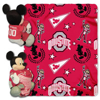 Ohio State Buckeyes NCAA Mickey Mouse with Throw Combo