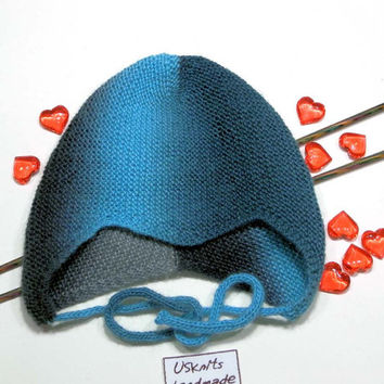 Baby boy hat, baby girl hat, helmet hat, earflap hat, knit helmet hat, blue hat, black hat, merino wool hat, gift for baby, kids knitwear