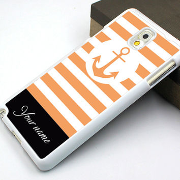 orange design Samsung case,orange anchor Galaxy S5 case,art anchor Galaxy S4 case,monogram Galaxy S3 case,signable samsung Note 3 case,cool design samsung Note 2 case,orange line samsung Note 3 case,