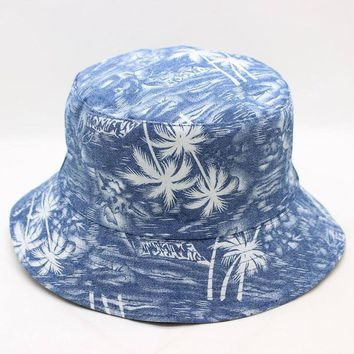 LDSLYJR 2018 Trees print Bucket Hat Fisherman Hat outdoor travel hat Sun Cap Hats for Men and Women 263
