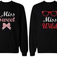 BFF Gift, BFF Accessories, BFF shirts - Sweet and Wild Sweaters for Best Friends