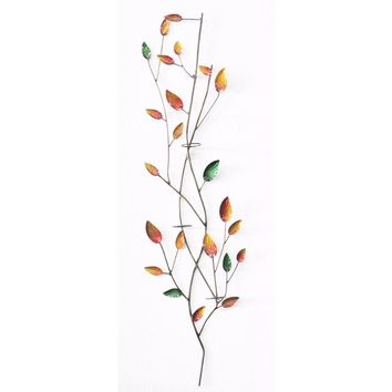 D Art Collection Iron Leaves WallDecor with Votive Holder New Colour