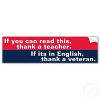 If You Can Read This (veteran) Bumper Sticker from Zazzle.com
