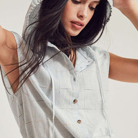 BDG Saturday Button-Front Hoodie Top | Urban Outfitters