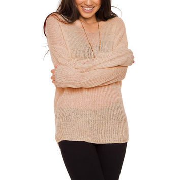 Isabelle Oversized Sweater - Taupe