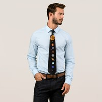 THE SOLAR SYSTEM - major and minor planets Neck Tie