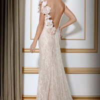 Lace and Floral Applique Gown, Style 159918