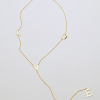 L-O-V-E Necklace - Gold