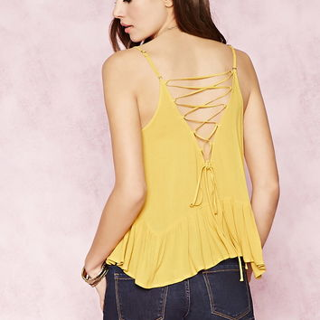 Contemporary Lace-Up Cami