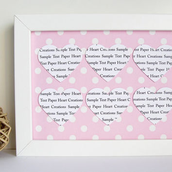 Personalised Heart Frame / Customise hearts with a Song or Nursery Rhyme / Wall Art Gift