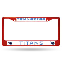 NFL Tennessee Titans Red Colored Chrome License Plate Frame