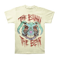 Bunny The Bear Men's  If You Don't Have Anything Nice To Say T-shirt Ivory