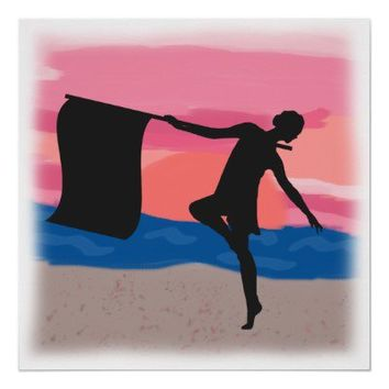 Colorguard Dancer at Sunset Posters from Zazzle.com