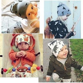 Fashion Chic Baby Boy Girl Infant Caps Toddler Beanie Hat Warm Winter Spring Fashion Cute Minions Animals Boys Girl Cap New