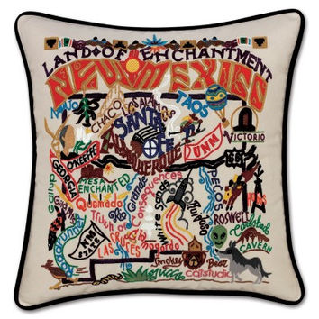 New Mexico Hand Embroidered Pillow