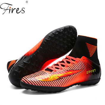 Fires 2016 Men High Ankle Soccer Shoes woman Football Boots Boys Kids Sport Soccer Cleats Football Sock Boots