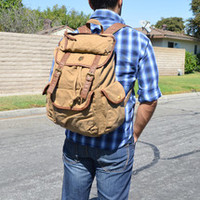 Canvas Rucksack Backpack for School Outdoor accessory