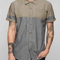 ourCaste Colorblock Chambray Button-Down Shirt - Grey