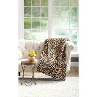 "Better Homes and Gardens 50"" x 60"" Faux Fur Throw - Walmart.com"