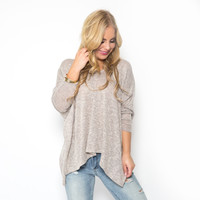 Break Time Knit Top in Oatmeal
