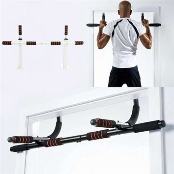 Best Deal Chin Door Pull Up Wall Mount Bar Exercise Gymnastics Workout Traning Fitness Gym Home Mounted Fitness Equipment