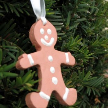 Gingerbread men,Christmas ornaments,Cookie ornaments,Christmas decorations,clay gingerbread,x-mas tree decor,pottery decorations