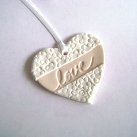 Wedding Favor Tag. Bridal Shower Tag. Love Tag. White and Cream Favor Tag. Set of 10
