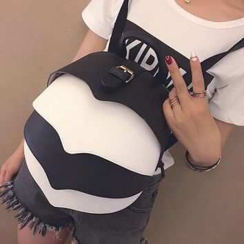 Unique Women Leather Bag Leather Beetle Shape Backpack Gift