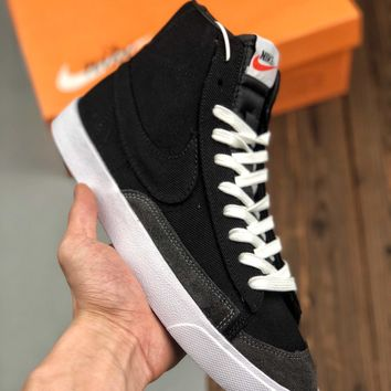 Nike Blazer Mid '77 Vintage  Women Men Fashion Boots fashionable Casual leather Breathable Sneakers Running Shoes Sneakers