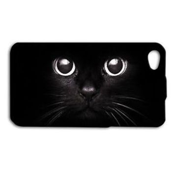 Adorable Black Kitty Cat Eyes Case iPhone 4 4s 5 5c 5s 6 6s Plus iPod New Cover